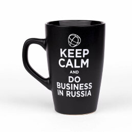 Кружка Keep Calm and Do Business in Russia