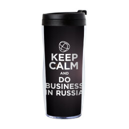 Термостакан Keep Calm and Do Business in Russia