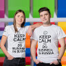 Футболка Keep Calm and Do Business in Russia