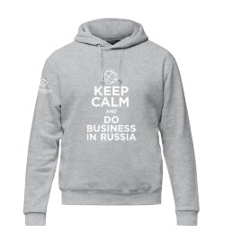 Худи Keep Calm and DO Business in Russia унисекс